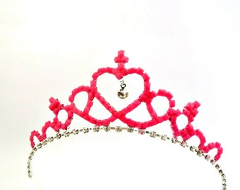 Pink Magic Tiara Glow In The Dark, Glowing Crown, Glowing Tiara, Glowing Crown, Glow In The Dark Crown, Birthday Crown, Adult Party Hat
