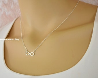 rose gold infinity necklace, forever necklace, forever, infinity, silver infinity necklace, gold infinity necklace, forever necklace