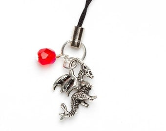 Dragon Phone Charm | Beaded Dragon Planner / Notebook Charm | Dragon Charm