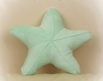 Starfish Shaped Pillow, Toy Pillow, 3D Pillow, Nautical Decor, Beach House Decor, Violet, Aqua, Pink, Green pillow