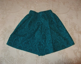 Girls Size 2 Culottes/Split Skirt in Pinwale Corduroy, FREE SHIPPING