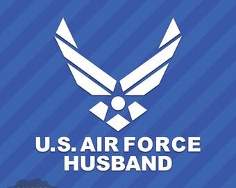 US Air Force Husband Vinyl Decal Sticker