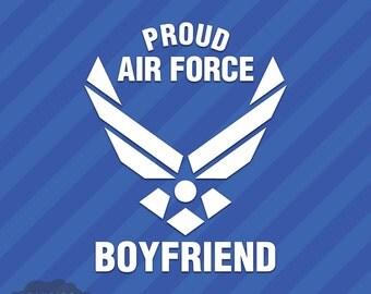 Proud Air Force Boyfriend Vinyl Decal Sticker