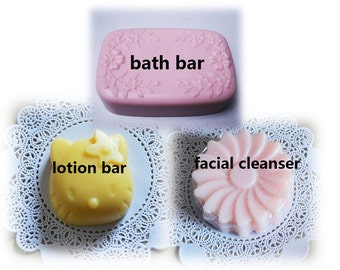 Soap bar - lotion bar - facial cleanser - homemade soap - premium quality - made to order