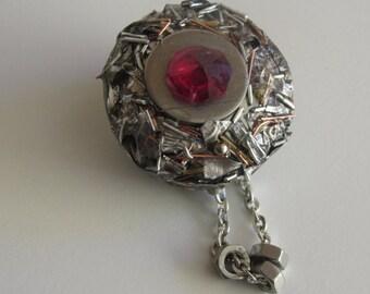 brooch unique handcrafted, statement brooch, modern, original piece, special