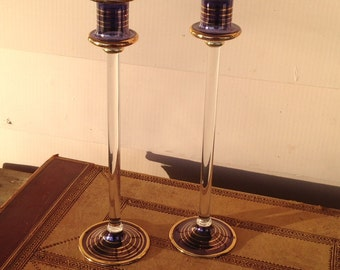 Glass - Venetian Style - Candle Holders