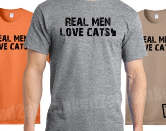 real men love cats  Cat tshirts tees funny humor gift shirts