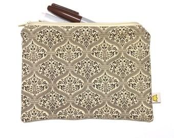 Wallpaper-style pencil case zipper pouch