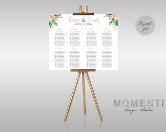 wedding bridal shower special occasion seating chart guest