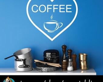 Coffee Heart - Latte - Cappucino - Mocha - Espresso - Kitchen Decor