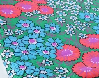 Silky Polyester Vibrant Colored Vintage Fabric