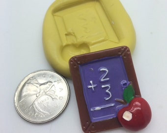 Chalk Board School Silicone Mold -A73
