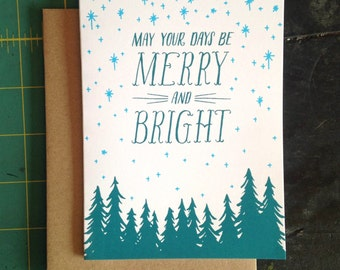May Your Days Be Merry And Bright Christmas Card
