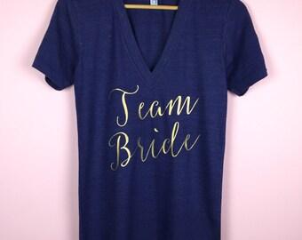 Bridal Shirts. Bridal Party Shirts. Wedding T-shirts. Bachelorette Shirts. Bridesmaid Shirts. Maid of Honor Shirt. Bride Shirt. Bride Gift.