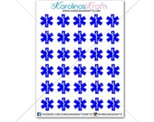 30 EMT Star of Life Stickers ! Perfect for your Erin Condren Life Planner, Filofax, Kikkik, Plum Paper, planner! #SQ00015