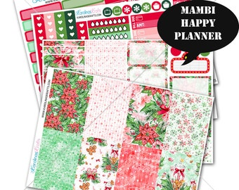 Holiday Sticker Winter Planner Kit 200+ Happy Planner Sticker, Mambi Planner Sticker kit, Weekly Planner Kit, Christmas Sticker #SQ00292-MHP