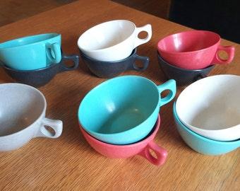 Assortment of Vintage Branchell Melmac Coffee/Tea Cups by Kaye LaMoyne