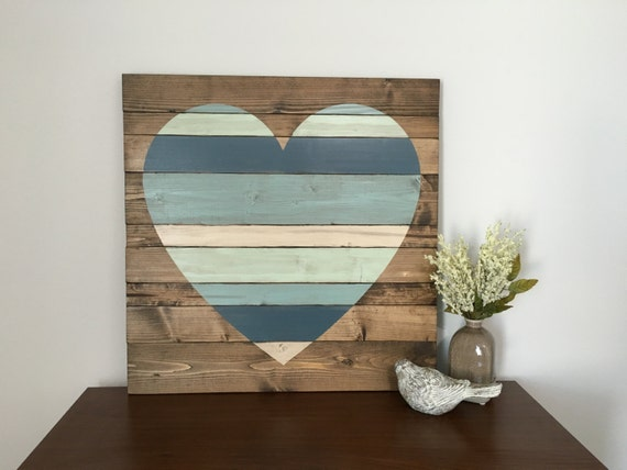 Large Heart Wall Decor : Rustic home decor large pallet heart by whiteaspenstudio