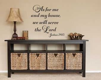 As For Me And My House Decal We Will Serve The Lord Religious Wall Decal Christian Wall Decal Bible Wall Decal Scripture Wall Decal Faith