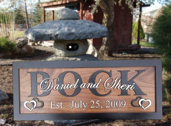Personalized Home Decor Signs Custom Carved Wooden Signs Wedding 5th
