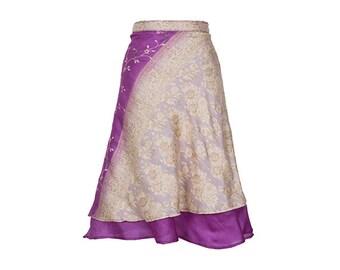 Wrap Skirt, Pink Skirt, Embroidered Skirt, Long Skirt, Bohemian Skirt, Plus Size Skirt, Wrap Skirt, Sari Skirt, Silk Skirt, Silk Wrap