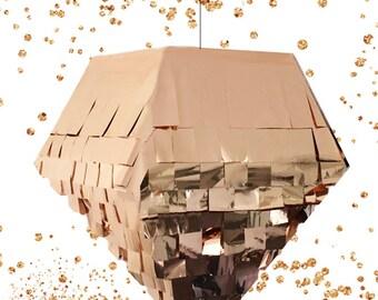 Diamond Piñata in Copper, Gold, Silver, or Purple | Pyramid Piñata | Octahedron Pinata | Wedding Piñata | Baby Shower Piñata | Metallic