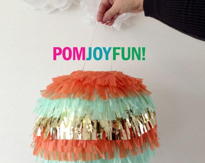 Piñata, Gender Reveal Fringe Piñata, Multi-Colored Birthday Piñata, Baby Shower Piñata, Fringe Wedding Pinata | Round Pinata