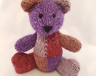 Titania the Hand Knit Teddy Bear, Knitted Bear, Knitted Toys, Bear, Children, Baby, Gift, Stuffed Animal, Toy, Hand Knit Toy, Teddy Bear