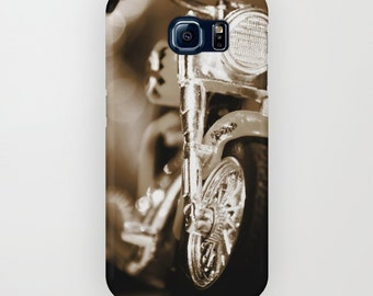 Motorcycle Galaxy S7 Case, Mens iPhone 6 Case, Sepia Photography Phone Case, iPhone 6 Plus, Galaxy s6 Case, Galaxy s5 Case Samsung Galaxy s4