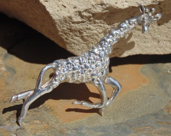 D'Molina ~ Mexican Sterling Running Giraffe Pin / Brooch