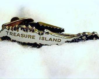 Early Enameled Treasure Island FL Men's Tie Clasp
