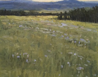 Mountain Meadow 12x9 Landscape Oil Painting