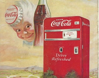 Coca cola sprite boy  & 1950's  magazine advertisment downloads