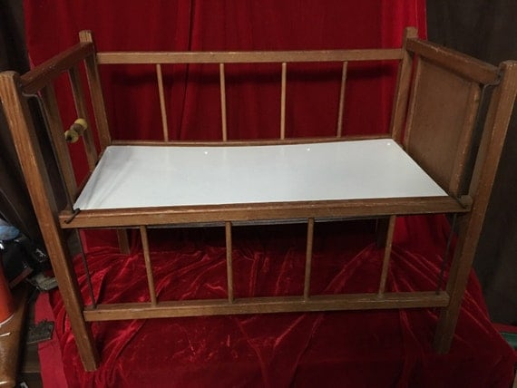 Items similar to vintage wooden baby doll crib fits the Wooden baby doll furniture