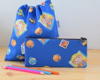 Kids pencil case,lunch bag,Handy Manny,pencil case,kids lunch bag,sandwich bag,school bag,cartoon bag,school kit,children pencil case