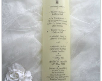 Wedding Remembrance Candle Memorial Candle Wedding Candles