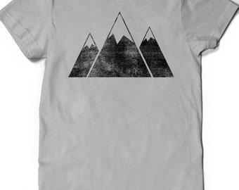 Mountains shirt T-Shirt T Shirt Tees Ladies Mens Girl Women Gift Present Hiking Mountain Climbing Outdoors Peace Hike Trail Kids Youth Child