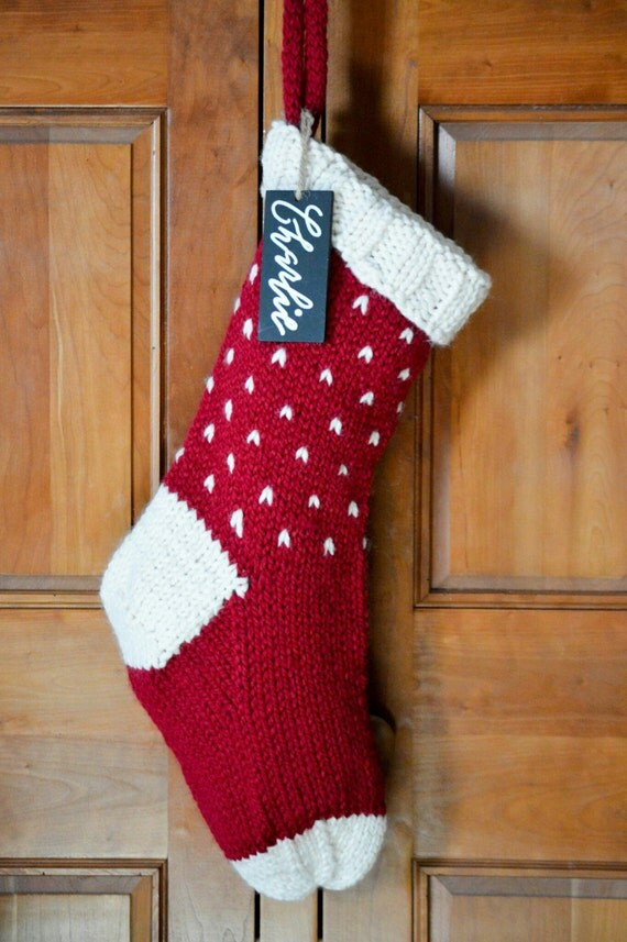 Personalized Fair Isle Knit Christmas Stocking Customize