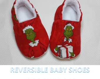Reversible Baby Shoe PDF Tutorial,Baby Shoe Pattern,Soft Sole Shoe Sewing Pattern,Baby Booties, Baby Slippers Pattern