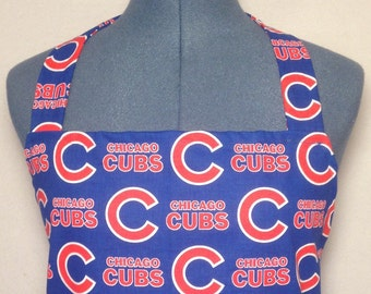 Chicago Cubs- Full Size BBQ Apron with Pockets