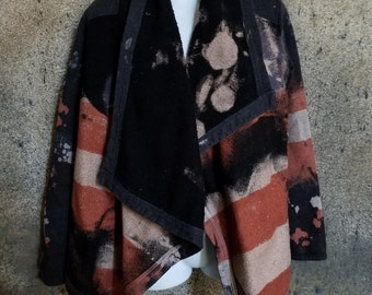 Distressed American Flag Cardigan