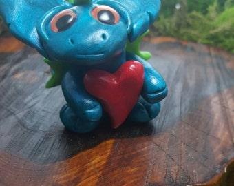 "OOAK polymer clay ""gremlin"" sweetheart dragon"