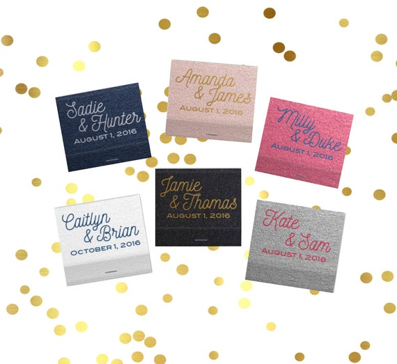 Personalized matches, wedding matchbooks, reception matches, monogram matchbook, sparkler send off matches, reception favor, party favor