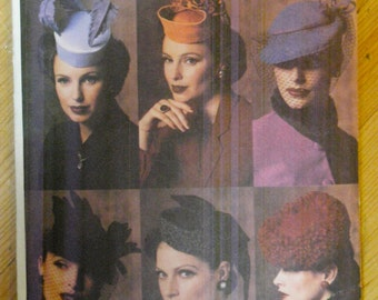 Vogue hat pattern number 7657, one size, six styles