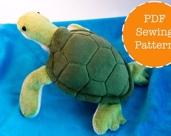 Sea turtle plush pattern stuffed animal sewing PDF