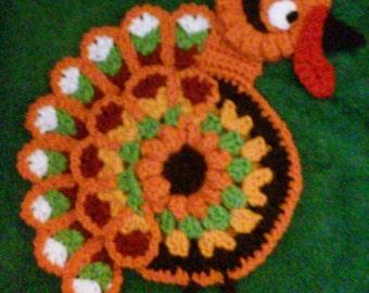 Crochet Turkey Potholder Pattern Only