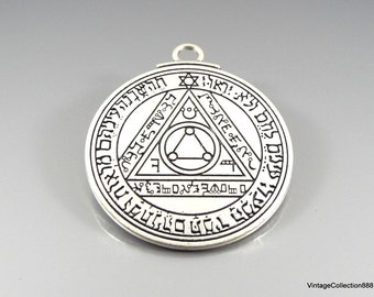 Talisman Amulet Pentacle of the Sun King Solomon .
