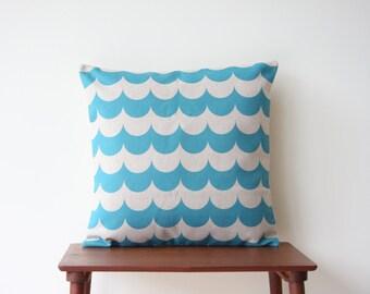 Chevron Pillow Cover, Cushion Cover, 18x18 Decorative Pillow, Geometric Cushion Cover, Throw Pillow, Blue Cushion, Minimalist, 113