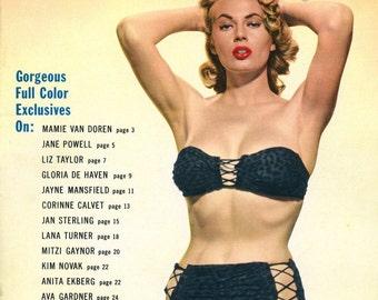 Magazine  Movieland Pin-ups  1955  Anita Ekberg on Cover  plus Marilyn Monroe  Jayne Mansfield  Lana Turner  Kim Novak  Ava Gardner  Rhonda