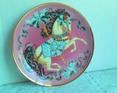 Franklin Mint Peaceful Prancer American Lung Association Collector Plate
